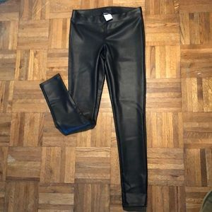 Faux leather leggings from Express. Size S.